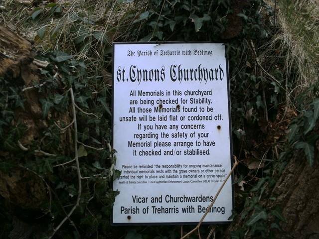 sign_in_St_Cynons_church_yard