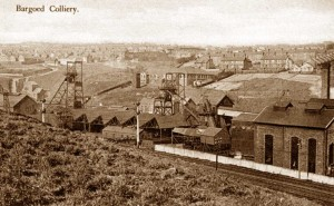 Glamorgan, Bargoed, an old photo of Bargoed Colliery